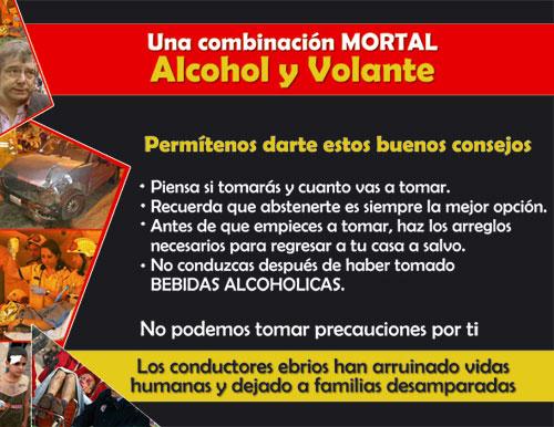 Una combinación MORTAL Alcohol y Volante.