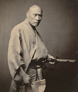 Rare photo of true samurai, circa 1866, Japan,  by photographer Felice Beato. A year or two after this photograph was taken, the samurai were abolished, and with it the Japanese feudal system.