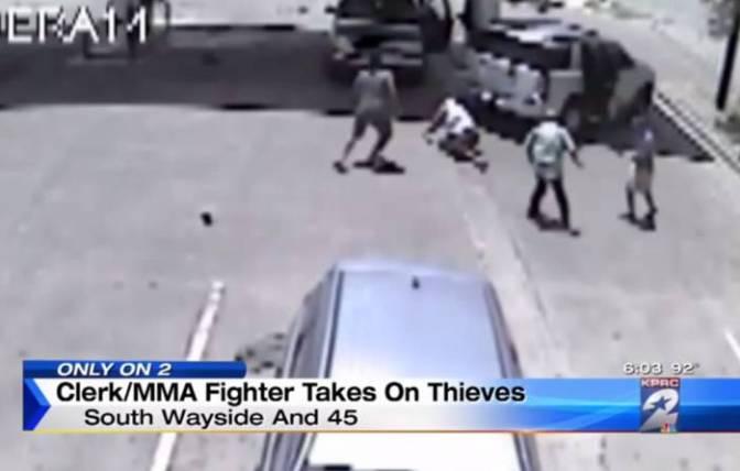 Grupo de ladrones se mete con el tipo equivocado (video)