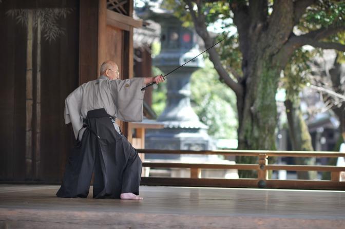 El Increible Samurai que corto una Bala en dos Con su espada