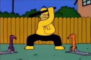 Artes Marciales y deportes de contacto en los Simpsons